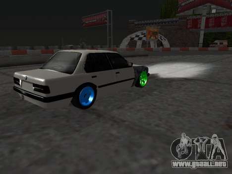 BMW M3 E30 Drift para vista lateral GTA San Andreas