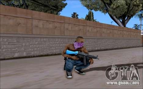 Blueline Gun Pack para GTA San Andreas tercera pantalla