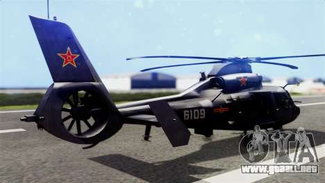 Harbin Z-9 BF4 para GTA San Andreas left