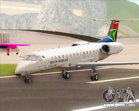 Embraer ERJ-135 South African Airlink para GTA San Andreas vista posterior izquierda