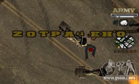 C-HUD Army para GTA San Andreas séptima pantalla