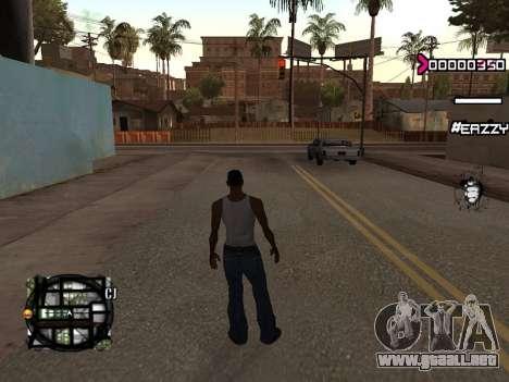 C-HUD WanTed para GTA San Andreas segunda pantalla