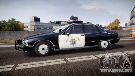 Chevrolet Caprice Highway Patrol [ELS] para GTA 4 left