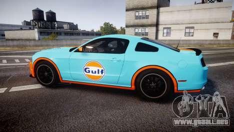 Ford Mustang Boss 302 2013 Gulf para GTA 4 left