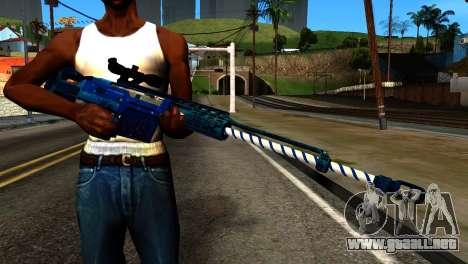 New Year Sniper Rifle para GTA San Andreas tercera pantalla