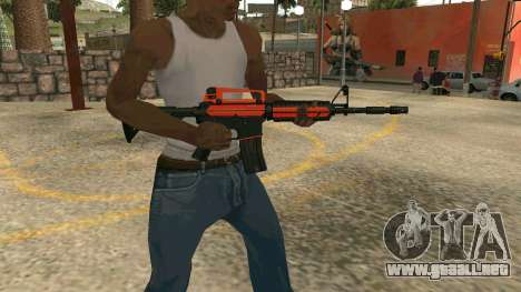 Orange M4A1 para GTA San Andreas sucesivamente de pantalla