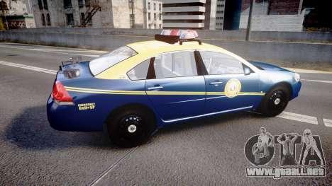 Chevrolet Impala West Virginia State Police ELS para GTA 4 left