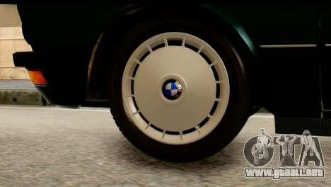 BMW M5 E28 Edit para GTA San Andreas vista posterior izquierda