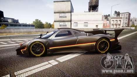 Pagani Zonda Revolution 2013 para GTA 4 left