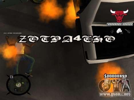 C-HUD Angry para GTA San Andreas sexta pantalla