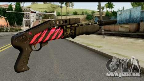 Red Tiger Combat Shotgun para GTA San Andreas segunda pantalla