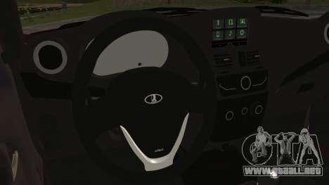 Lada Kalina R2 para la visión correcta GTA San Andreas