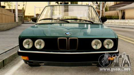 BMW M5 E28 Edit para GTA San Andreas vista hacia atrás