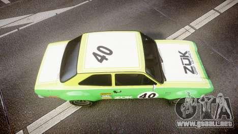 Ford Escort RS1600 PJ40 para GTA 4 visión correcta