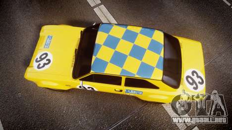 Ford Escort RS1600 PJ93 para GTA 4 visión correcta