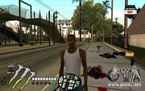 C-HUD Monster Energy para GTA San Andreas segunda pantalla