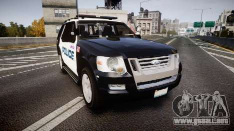 Ford Explorer 2008 Police [ELS] para GTA 4