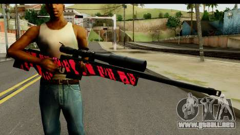 Red Tiger Sniper Rifle para GTA San Andreas tercera pantalla