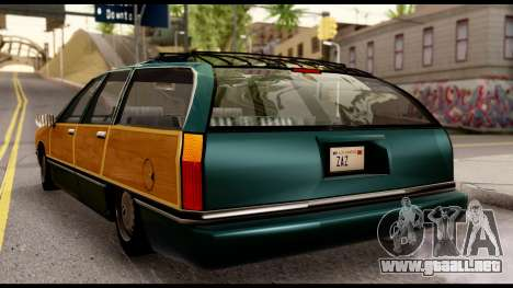 Elegant Station Wagon with Wood Panels para GTA San Andreas vista posterior izquierda