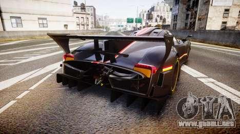 Pagani Zonda Revolution 2013 para GTA 4 Vista posterior izquierda
