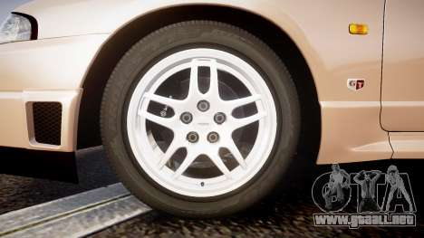 Nissan Skyline R33 GT-R V.spec 1995 para GTA 4 vista hacia atrás