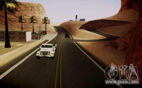 Fourth Road Mod para GTA San Andreas sucesivamente de pantalla