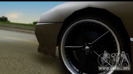 New Elegy Editons para GTA San Andreas vista hacia atrás