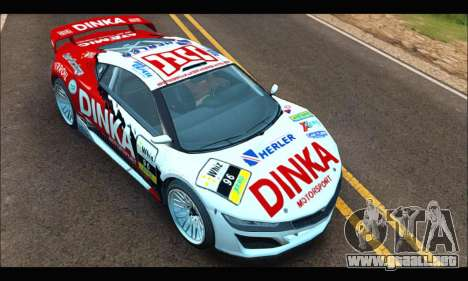 Dinka Jester Racecar (GTA V) (IVF) para GTA San Andreas vista hacia atrás
