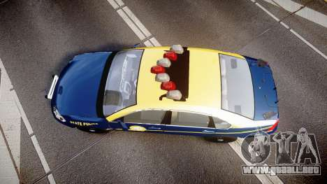 Chevrolet Impala West Virginia State Police ELS para GTA 4 visión correcta