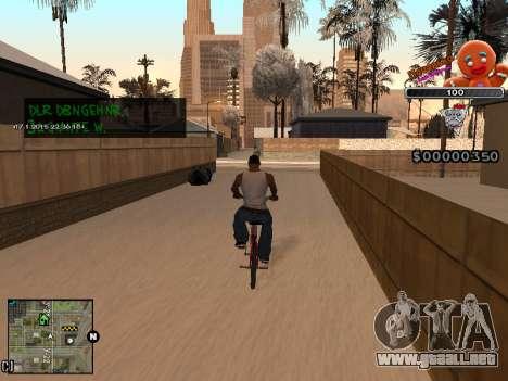 C-HUD Cookie para GTA San Andreas quinta pantalla