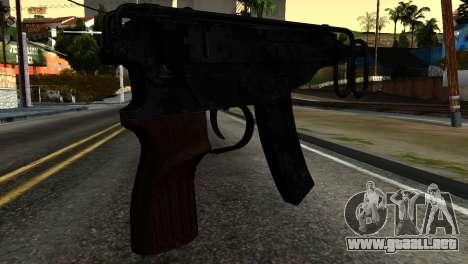 New Tec9 para GTA San Andreas segunda pantalla