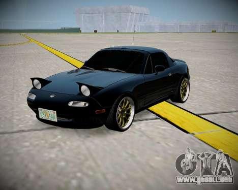 Mazda MX-5 JDM para GTA San Andreas left