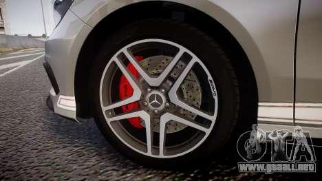 Mersedes-Benz A45 AMG PJs5 para GTA 4 vista hacia atrás