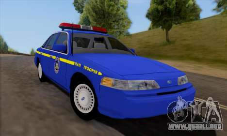 Ford Crown Victoria 1992 State Patrol para GTA San Andreas