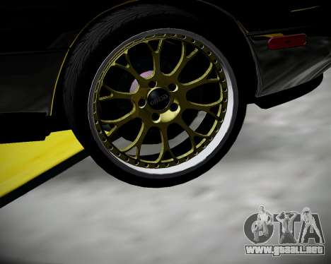 Mazda MX-5 JDM para GTA San Andreas vista hacia atrás