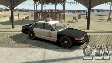 GTA V Vapid Stanier Police Cruiser para GTA 4 left