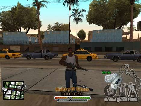 C-HUD для Ejército para GTA San Andreas segunda pantalla