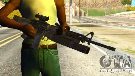 Assault Rifle from Global Ops: Commando Libya para GTA San Andreas tercera pantalla