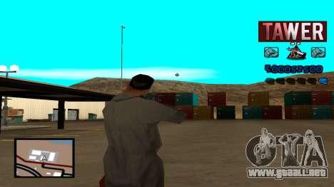C-HUD Tawer para GTA San Andreas tercera pantalla