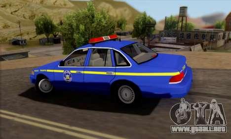Ford Crown Victoria 1992 State Patrol para GTA San Andreas left