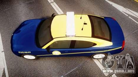 Dodge Charger West Virginia State Police [ELS] para GTA 4 visión correcta