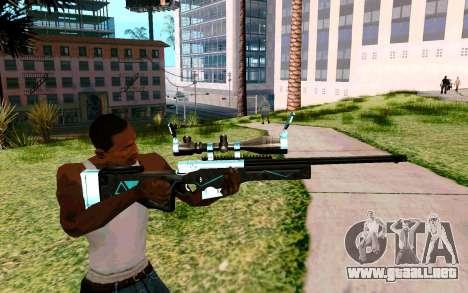 Blue Line Sniper para GTA San Andreas tercera pantalla