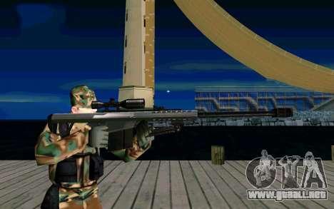 Barret M107 para GTA San Andreas tercera pantalla