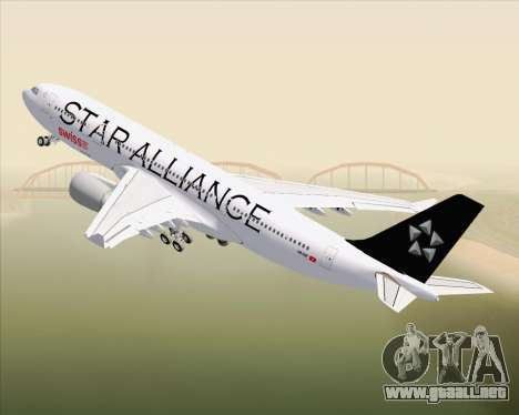 Airbus A330-200 SWISS (Star Alliance Livery) para la vista superior GTA San Andreas