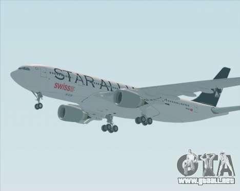 Airbus A330-200 SWISS (Star Alliance Livery) para la visión correcta GTA San Andreas