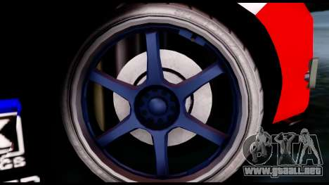 Toyota Corolla 2012 LOJACK Racing para GTA San Andreas vista posterior izquierda
