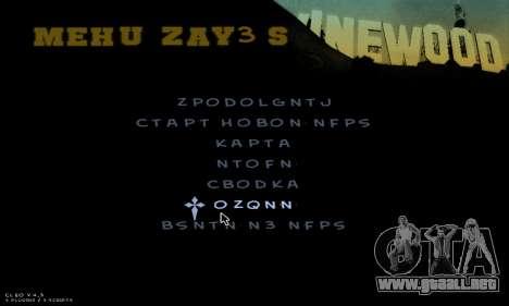 C-HUD Army para GTA San Andreas octavo de pantalla