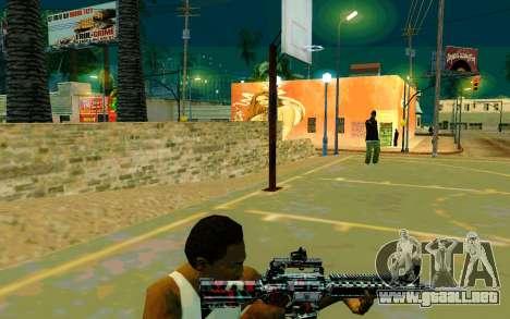 M4A1 (Looney) para GTA San Andreas tercera pantalla