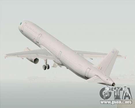 Airbus A321-200 Royal New Zealand Air Force para visión interna GTA San Andreas