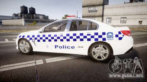 Holden VF Commodore SS Victorian Police [ELS] para GTA 4 left